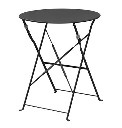 Bolero Steel Folding Table - Available in four colors: Black, Red, Gray, and Green