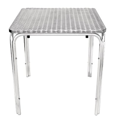 Bolero Stackable table RVS - Aluminium Frame - Stainless steel Worktop - 72 (H) x70x70cm