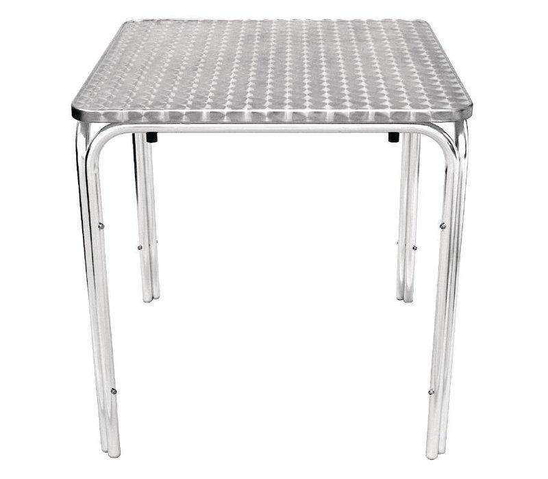 Bolero Stackable table RVS - Aluminium Frame - Stainless steel Worktop - 72 (H) x70x70cm