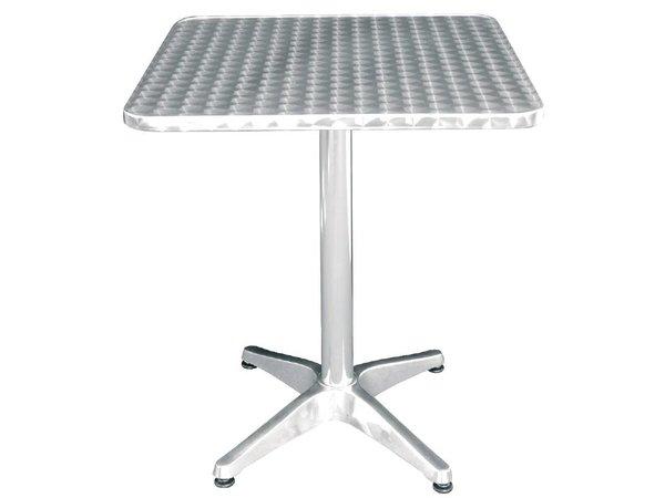 Bolero Catering Tabelle - Aluminiumrahmen - Arbeitsplatte aus Edelstahl - 72 (H) x60x60cm