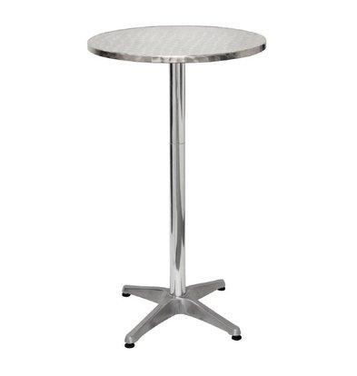 Bolero Catering Statafel - Aluminiumrahmen - Arbeitsplatte aus Edelstahl - 105 (H) x60 (Ø) cm