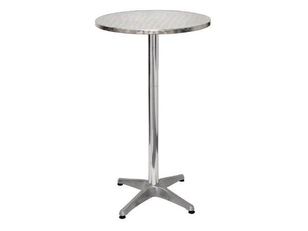 Bolero Catering Statafel - Aluminium Frame - Stainless steel Worktop - 105 (H) x60 (Ø) cm