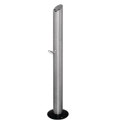 Bolero Column butt standing   Stainless steel   Easy to Legen   200x980x (h) 210mm