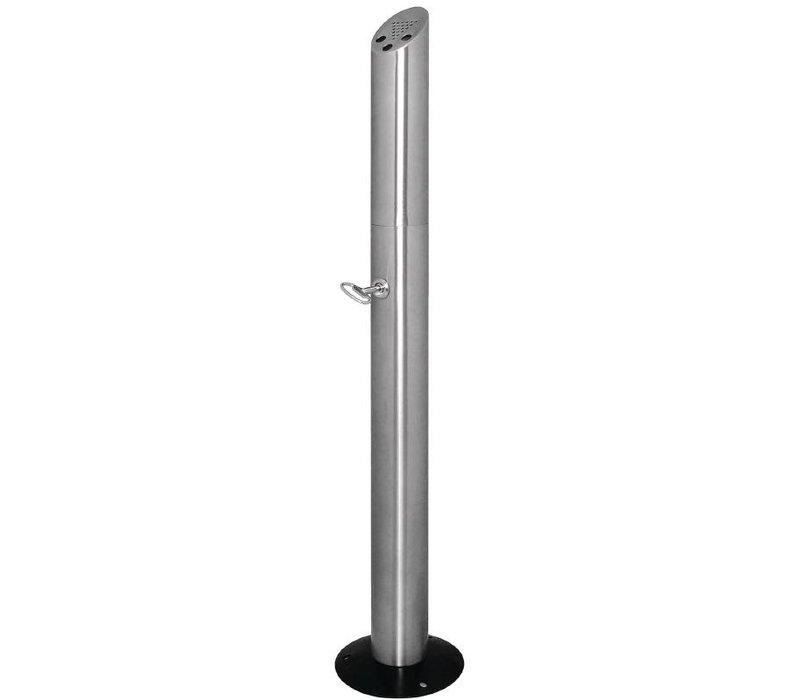 Bolero Column butt standing | Stainless steel | Easy to Legen | 200x980x (h) 210mm
