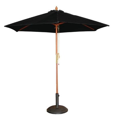 Bolero Parasol Round with Pulley Mechanism - Black - 2.5 meter diameter