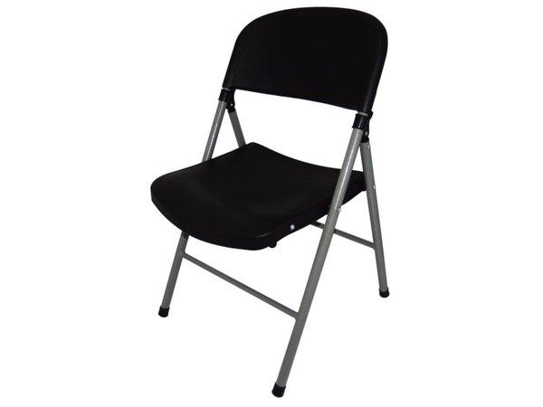 Bolero Strong Folding Chair - Black - Price per 2 pieces