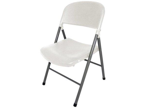 Bolero White folding chairs - Price per 2 pieces