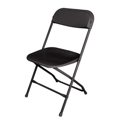 Bolero Folding Chair Stackable up to 50 pcs. - Black - Price per 10 pieces