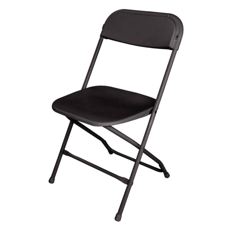 Bolero Folding Chair Stackable up to 50 pcs Black Price per 10 pieces