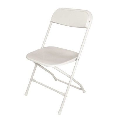 Bolero Folding Chair Stackable up to 50 pcs. - White - Price per 10 pieces