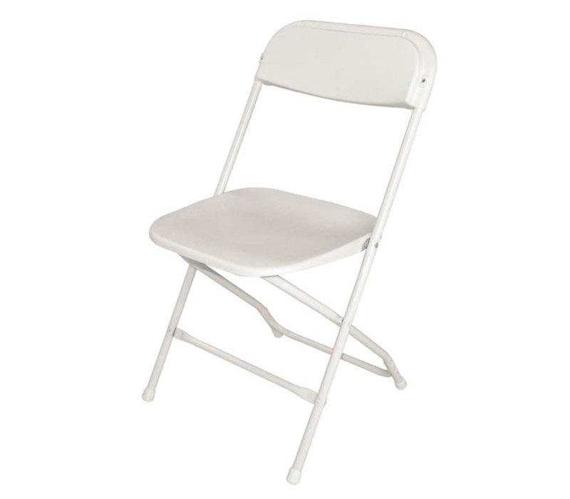 Bolero Klappstuhl Stapelbar bis zu 50 Stück. - Weiß - Preis pro 10 Stück