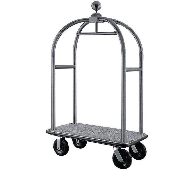 Bolero Lobby Luggage / Luggage Trolley - Stainless Steel