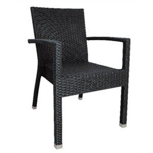 Bolero Plastic rattan chair black / anthracite - 4 pieces