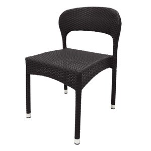 Bolero Plastic wicker chair, gray - 4 pieces