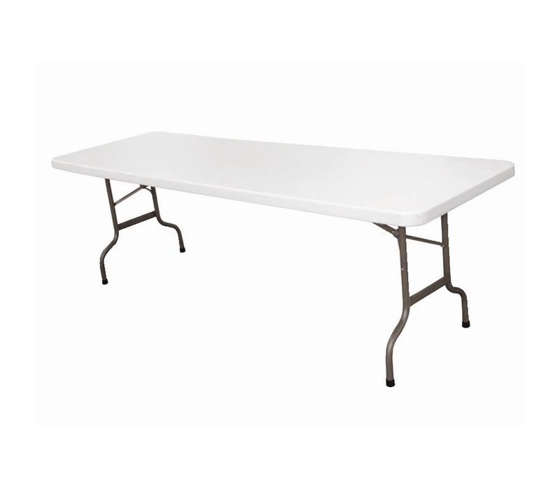 Bolero XXL Table with Foldable Steel Frame - Tabletop also Collapsible - 74 (h) x244 (b) cm