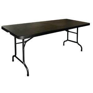 Bolero Folding table (foldable into a suitcase) - Black - 73.5 (h) x183 (b) cm
