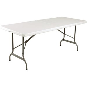 Bolero Complete Folding table - White gray - 73.5 (h) x183 (b) cm - XXL OFFER