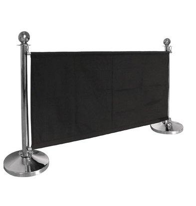 Bolero Canvas afzetdoek voor afzetpaaltjes - Zwart