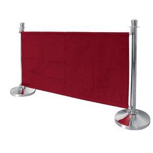 Bolero Canvas afzetdoek voor afzetpaaltjes - Rood / Bordeaux