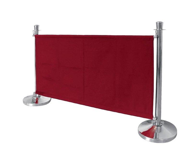 Bolero Leinentuch Steckdose für den Vertrieb Pole - Rot / Bordeaux