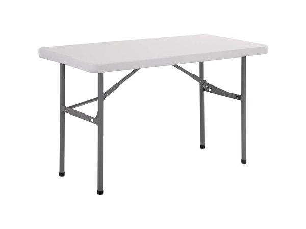 Bolero Buffet Tisch mit klappbaren Beinen - Grau - 74 (h) x122 (b) cm