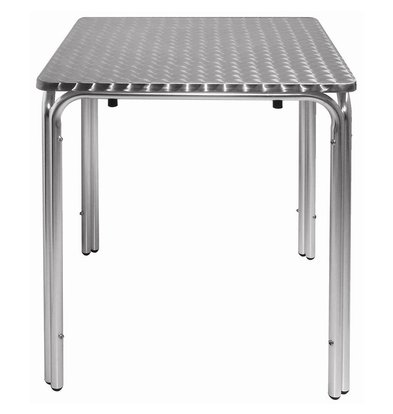Bolero Bistro table / Hospitality Table Stackable - Aluminium + Stainless Steel Sheet - 72 (h) x60x60cm