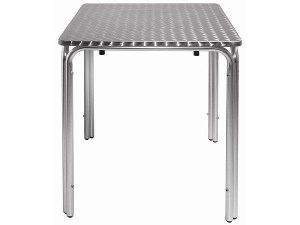 Bolero Bistrotisch / Multimedia Tabelle Stackable - Aluminium + Edelstahl-Sheet - 72 (h) x60x60cm