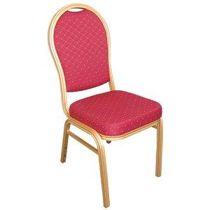 Bolero Banketstoel Stapelbaar met Ronde Rug - Weerbestendig - Blauw - Prijs per 4 stuks
