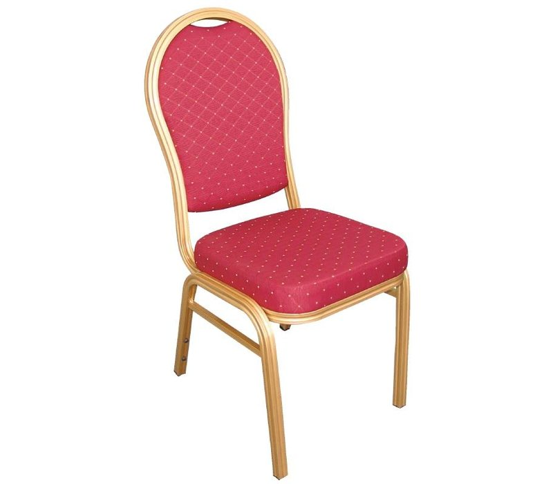 Bolero Banquet Chair Stackable Crew Back - Weatherproof - blue - Price per 4 pieces