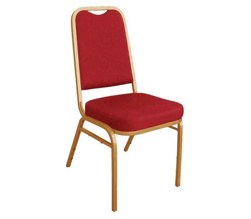 Bolero Bankett-Stuhl stapelbar mit geradem Rücken - Wetterfest - Rot - Preis je 4 Stück