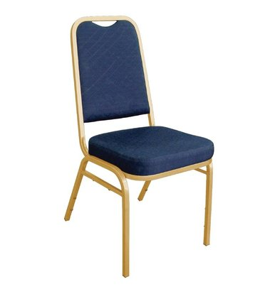 Bolero Veranstaltungsstühle Stapel mit geradem Rücken - wetterfest - blau - Preis je 4 Stück
