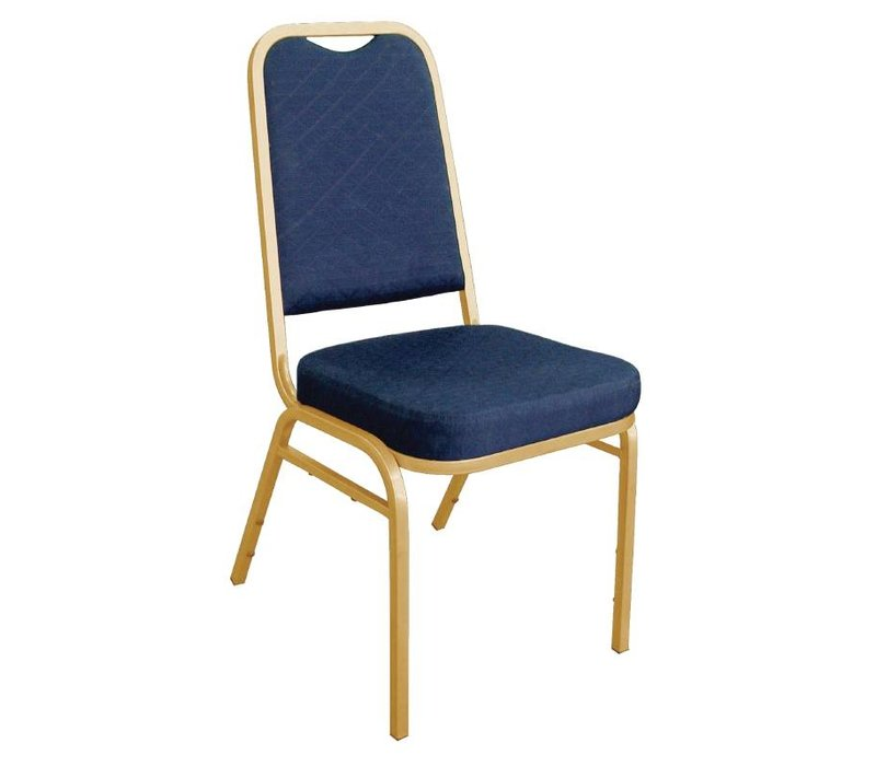 Bolero Banquet Chairs Stackable with Straight Back - Weatherproof - blue - Price per 4 pieces