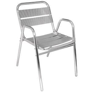 Bolero Aluminum Stackable Chair - Angular - Price per 4 pieces
