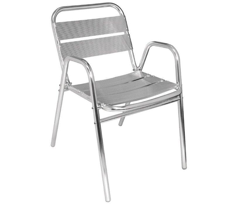 Bolero Aluminium-Stapelstuhl - Angular - Preis für 4 Stück