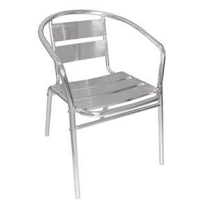 Bolero Stackable Chairs Aluminum - Round - Price per 4 pieces