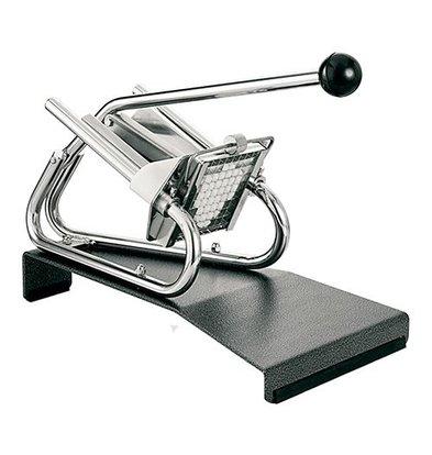 XXLselect Patatsnijder Tafelmodel Verchroomd - Voetstuk - Mesrooster 8x8mm