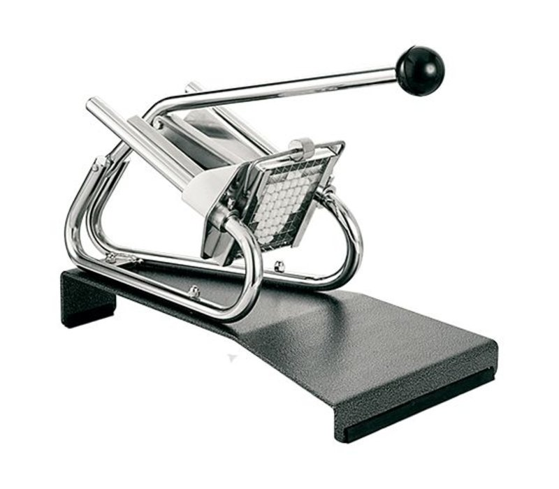 XXLselect Chips Cutter Tabletop Chrome - Pedestal - Mesrooster - 6x6mm