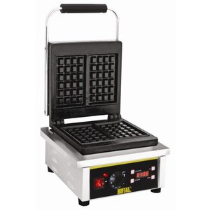 Buffalo Waffle Device stainless steel double - with cast iron plates - 305x235x (h) 400mm - 2Q
