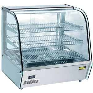 Buffalo Warming Vitrine RVS - 3 Roosters - 2 Schiebefenster - 120 Liter - 680x570x (h) 670mm
