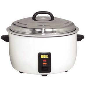 Buffalo XXL Professional Rice Cooker - +/- 92 porties per Kook de rijst maatbeker + + Shovel - Anti-stick - 23 Liter