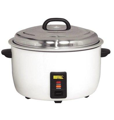 Buffalo XXL Berufsreiskocher - +/- 92 Portionen kochen Reis Messbecher + Schaufel - Anti-stick - 23 Liter