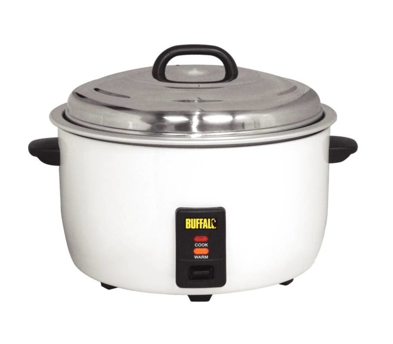 Buffalo XXL Professional Rice Cooker - +/- 92 servings Cook the rice measuring cup + Shovel - Anti-stick - 23 Litre