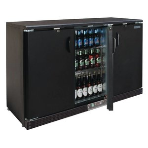 Polar Barkoeling Black with 3 Blind Swing doors - 273 Bottles - 335 liters - 1352 (b) x535 (d) X925 (H) mm