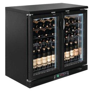 Polar Wein Kühlschrank - Getränke Kühler - mit 2 Flügeltüren - 56 Flaschen - 920x530,5x (H) 920mm