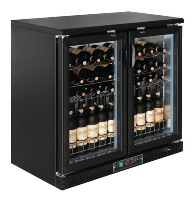 Polar Wine Fridge - Drinks chiller - With 2 hinged doors - 56 Bottles - 920x530,5x (H) 920mm