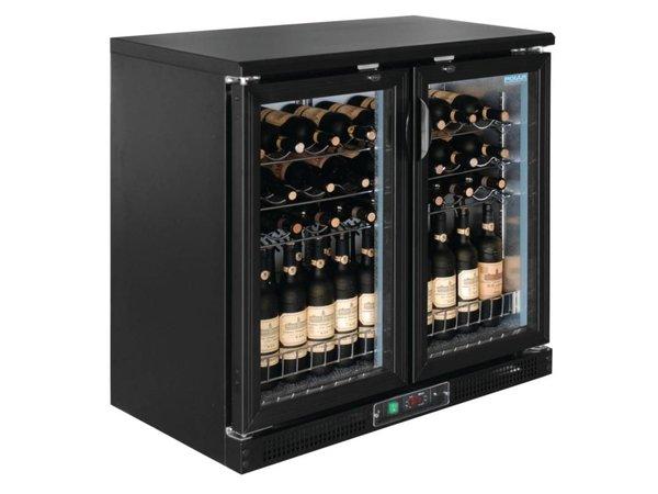 Polar Wijnkoelkast - Barkoelkast - Met 2 klapdeuren - 56 Flessen - 920x530,5x(H)920mm