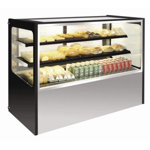 Polar Refrigerated display case Display - Stainless Steel - 400 liter on Wheels - 120x71x (h) 120cm
