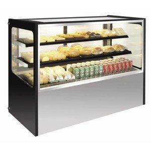 Polar Refrigerated display case Display - Stainless Steel - 400 liter on Wheels - 120x71x (h) 120cm