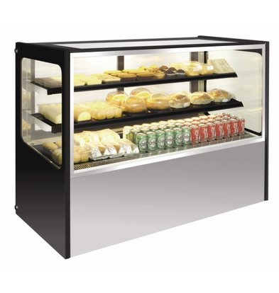 Polar Refrigerated display case Display - Stainless Steel - 400 liter on Wheels - 120x71x (h) 120cm - WATCH VIDEO