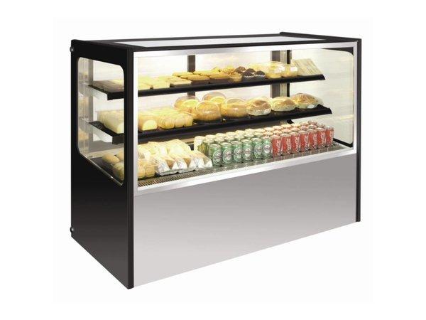 Polar Refrigerated display case Display - Stainless Steel - 300 liter on Wheels - 90x71x (h) 120cm